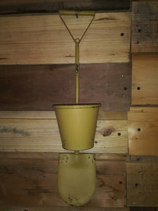Wrought Iron Tool Planters-Yellow Shovel