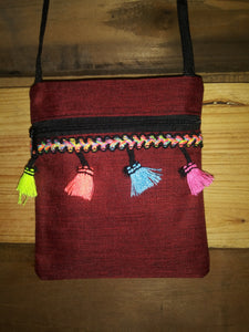 Mini Messenger Bag W/ Tassels