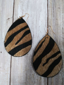 Tiger Hide Earrings