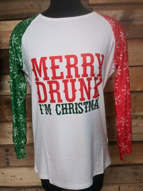 Merry Drunk I'm Christmas Top