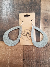 Load image into Gallery viewer, Leather Hollow Dangle Drop Earrings
