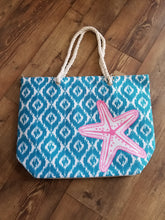 Load image into Gallery viewer, Oversized Coastal Tote Bag Starfish