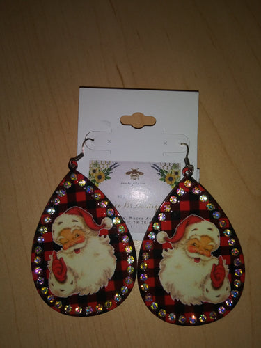 ER2592 Santa Earrings