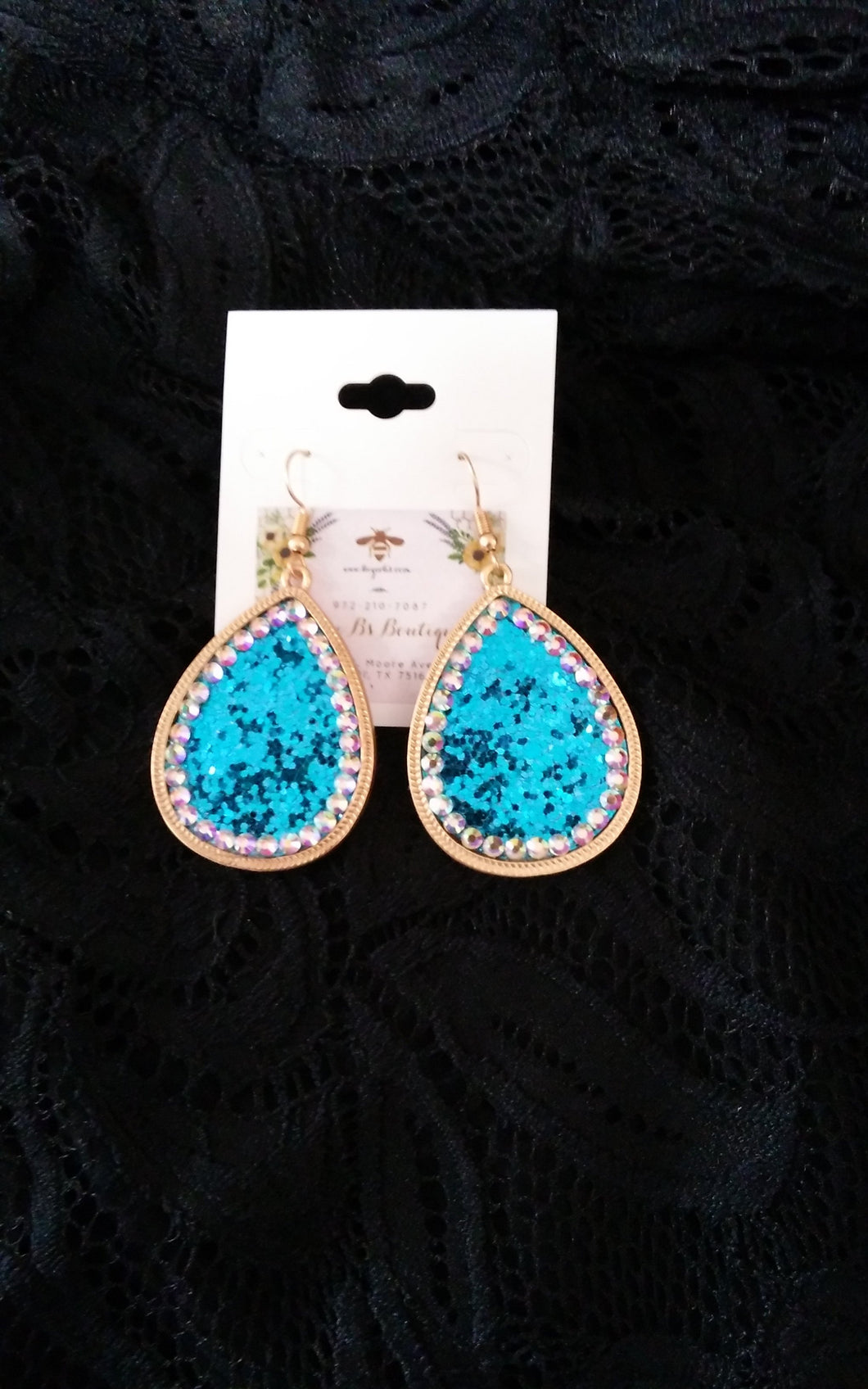 Crystal Glitter Earrings # 73561