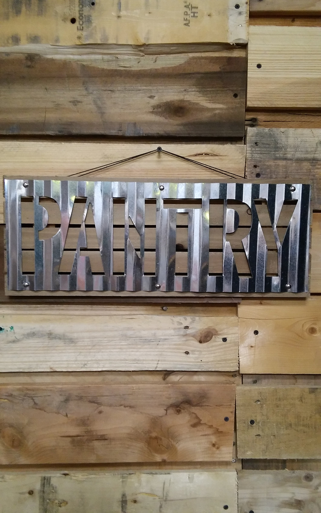 Corrugated Metal Wall Sign