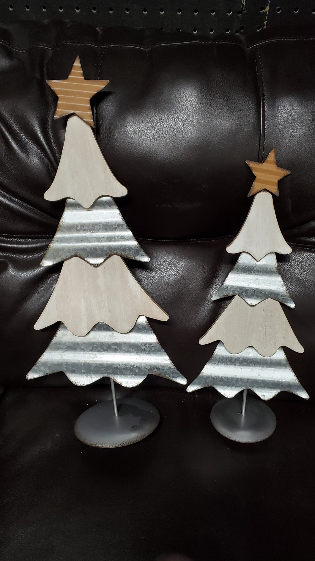 Farmhouse Country Christmas Tree 683438-6F2X set of two