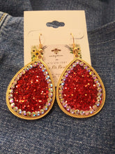 Load image into Gallery viewer, Crystal Glitter Earrings # 73561