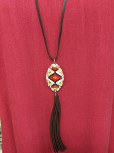 NEK5226 Faux Suede Necklace