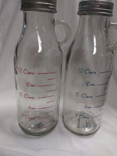 Mix And Measure Glass Bottles