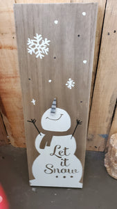 Farmhouse Country Snowman 683435-2FSW