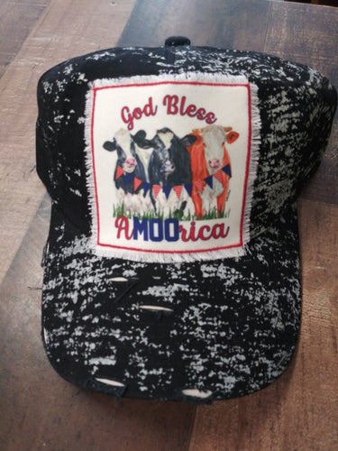 God Bless A-MOO-Rica Ball Cap