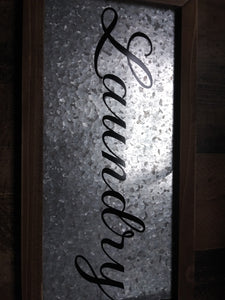 Simply Slated Galvanized Sign