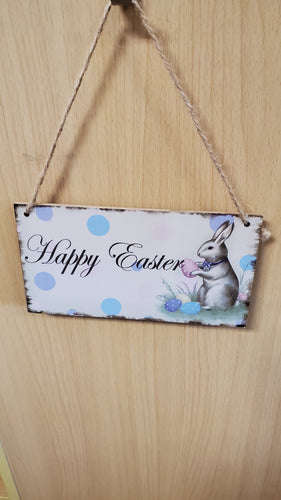 Happy Easter Sign Rabbit