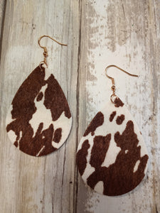 Cow Pattern Earrings 27188STO-G