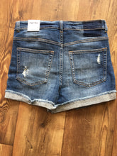 Load image into Gallery viewer, Distressed Folded Denim Shorts