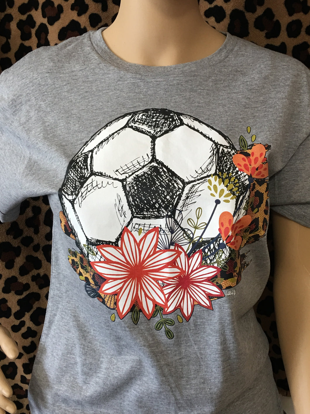 Gray Soccer Ball Tee