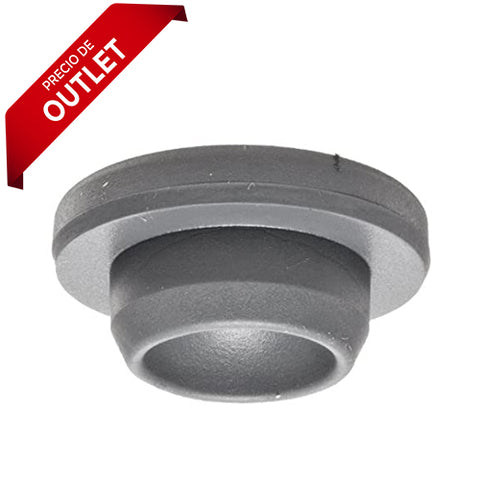 4294. TAPON DE GOMA BUTILO GRIS 20MM TIPO RECTO, 13X20MM C/100 - WHEATON