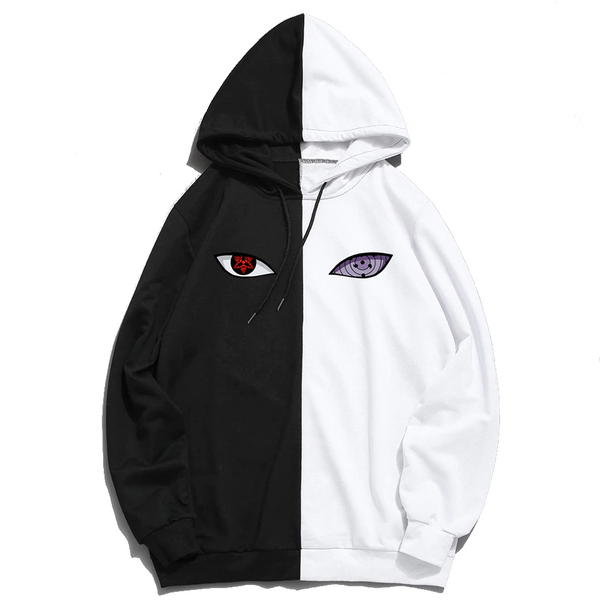 Naruto Sasuke Uchiha Sharingan and Rinnegan Multi-Color Hoodie