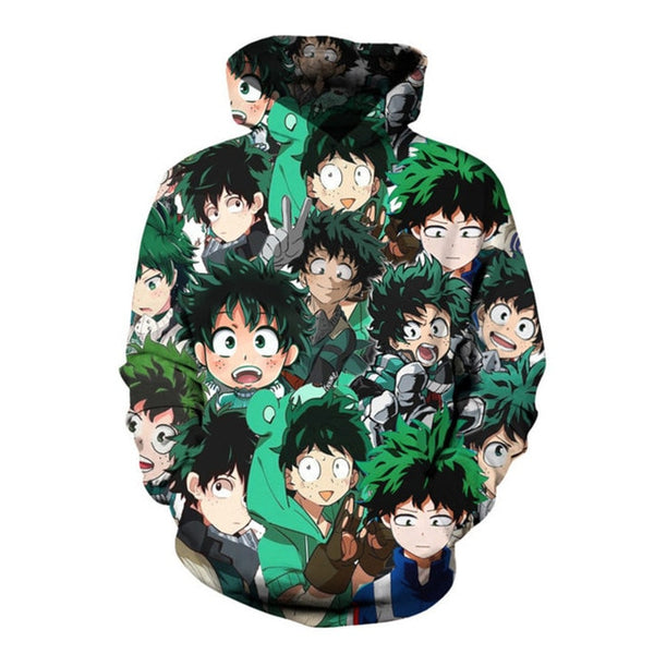 My Hero Academia Deku All Over Overload Hoodie