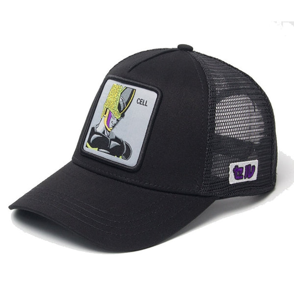Dragon Ball Z Cell Signature Black Trucker Hat