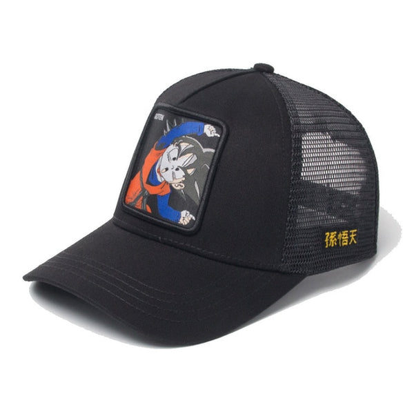 Dragon Ball Z Kid Goten Signature Black Trucker Hat