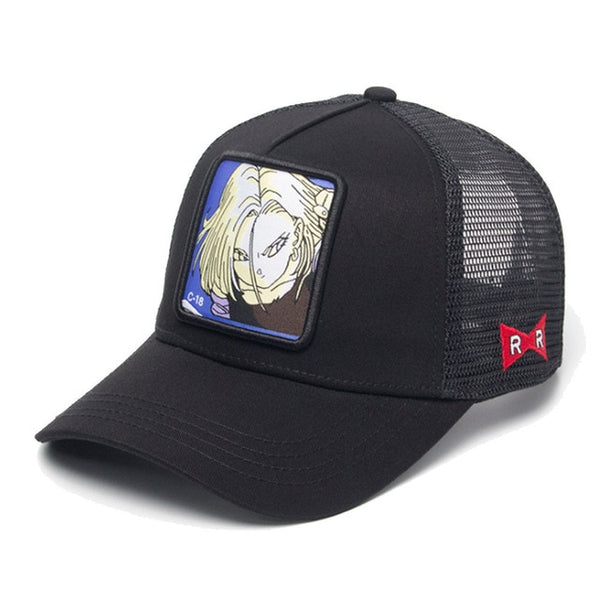 Dragon Ball Z Android 18 Signature Black Trucker Hat