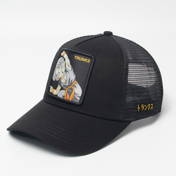 Dragon Ball Z Kid Trunks Signature Black Trucker Hat