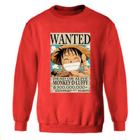 One Piece WANTED Monkey D Luffy Long Sleeve Shirt