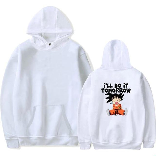 Dragon Ball Z Kid Goku I'll Do It Tomorrow Hoodie
