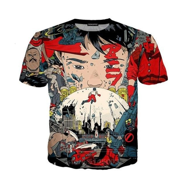 Akira Picture Plot Summary T-Shirt