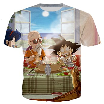 Dragon Ball Z Master Roshi and Goku Dinner T-shirt