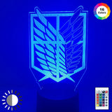 Attack on Titan Color Changing LED Mood Lamp