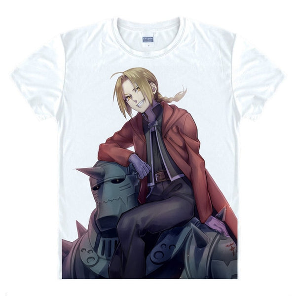 Fullmetal Alchemist Edward and Alphonse Playful Pose Digital Printed T-Shirt