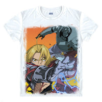 Fullmetal Alchemist Edward and Alphonse In Combat Digital Printed T-Shirt