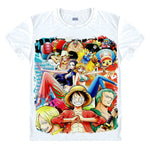 One Piece Straw Hat Pirates Splash T-Shirt