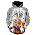 Dragon Ball Super Mastered Perfected Ultra Instinct Goku Hoodie