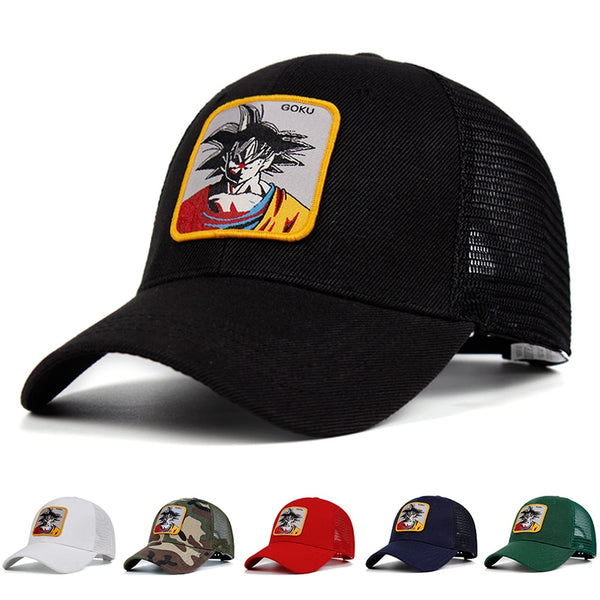 Dragon Ball Z Goku Patch Trucker Hat