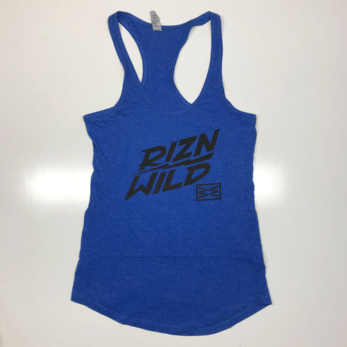 ELECTRIC WOMENS RACERBACK TANK IN ROYAL HEATHER