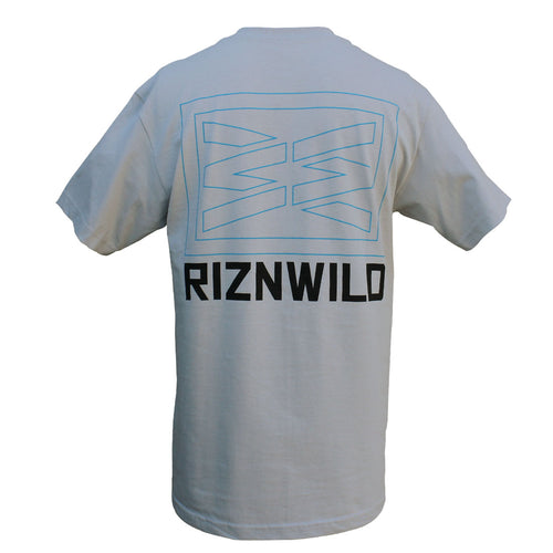 RIZNWILD | Men's tee in silver blue and black design