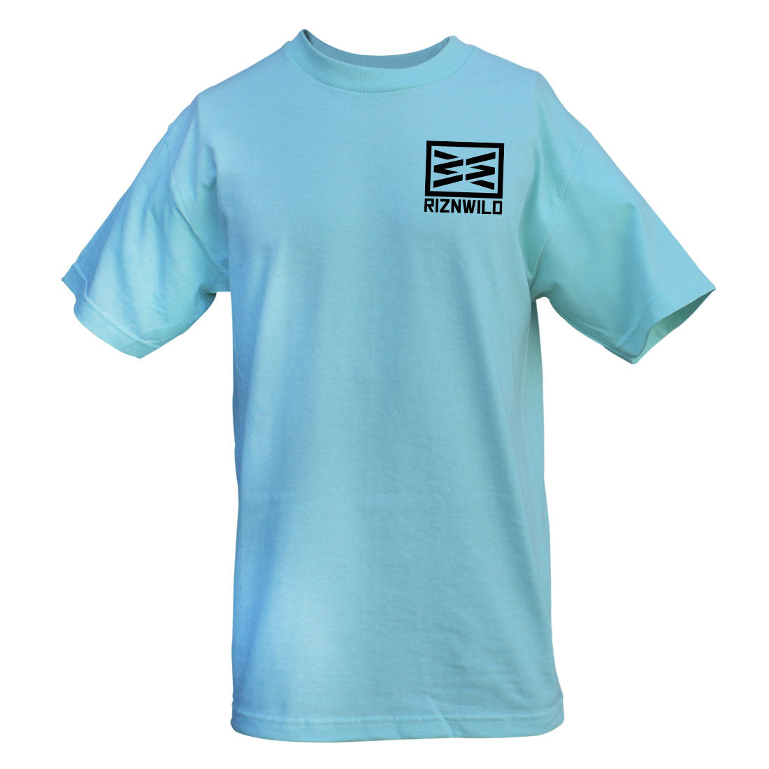 RIZNWILD | Men's tee shirt left chest logo celadon color
