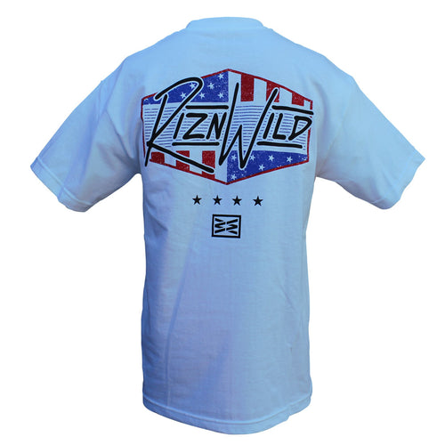 RIZNWILD | Men's 100% cotton american style logo back of shirt