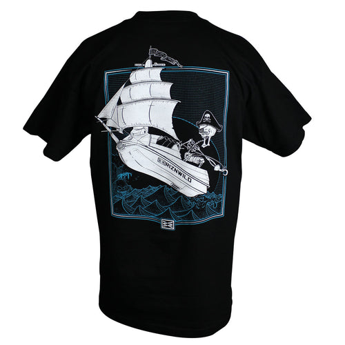 Captain Skinner Mens Standard Tee in Black