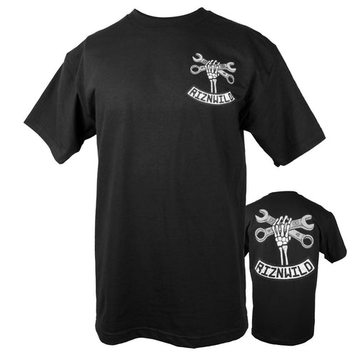 Wrench Twist Mens Standard Tee in Black