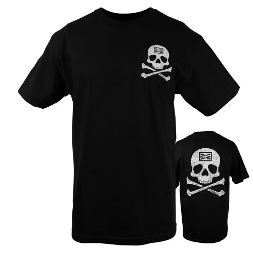 RIZNWILD | Jolly Rodger mens black and white t-shirt