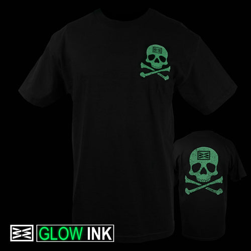 RIZNWILD | Men's glow in the dark jolly roger tee shirt