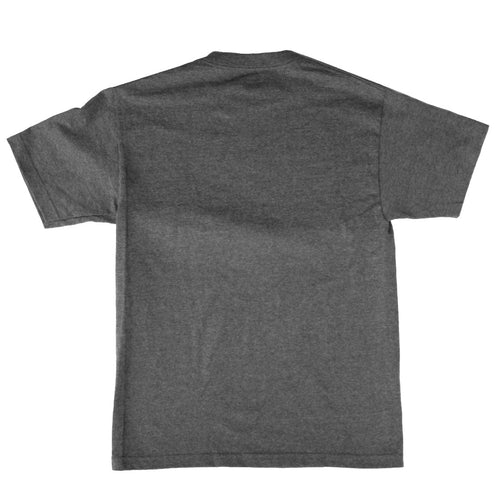 Block Mens Standard Tee in Charcoal Heather - Back View