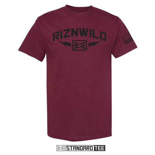 STORM MENS STANDARD TEE IN BURGUNDY