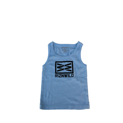 RIZNWILD | Adorable baby boy rib powder blue tank top