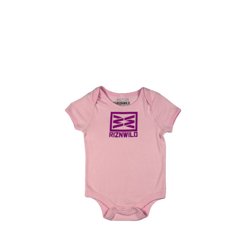 Block Baby Onesie in Pink-Purple