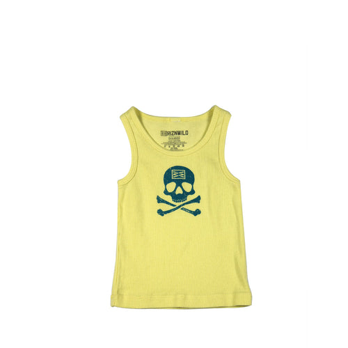Jolly Roger Baby Rib Tank in Yellow